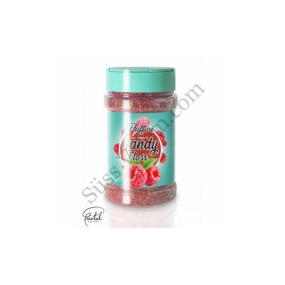 Málna ízesítésű vattacukor alapanyag 300 g