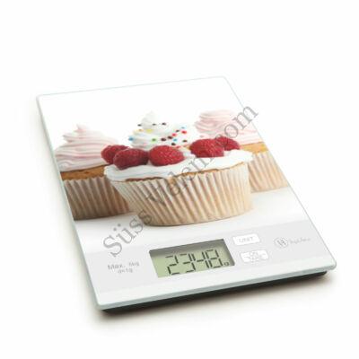 Málnás muffin mintás digitális konyhai mérleg
