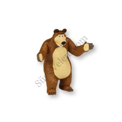 Medve műanyag tortadíszítő figura (Mása és a medve meséből)