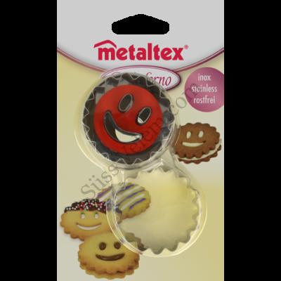 Metaltex rugós linzer kiszúró készlet Smiley középpel