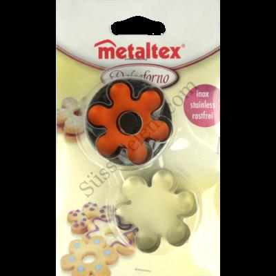 Metaltex rugós virág alakú linzer kiszúró készlet