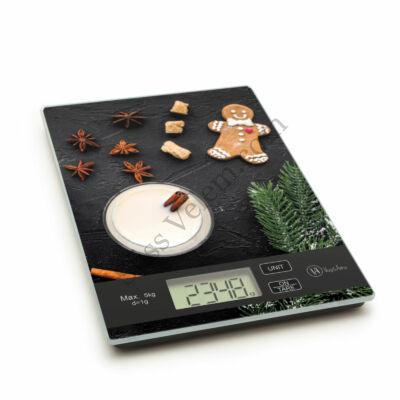 Mézeskalács mintás digitális konyhai mérleg