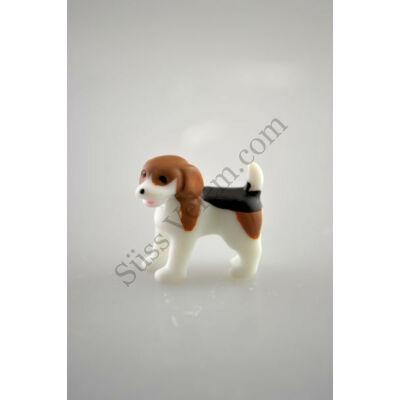 Mini beagle kutya műanyag tortadísz szülinapi tortára