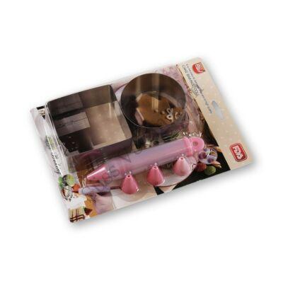 Mini tortakarika és tortakeret díszítő tubussal