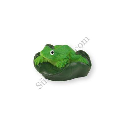 Mini zöld levelibéka tortadísz szülinapi tortára
