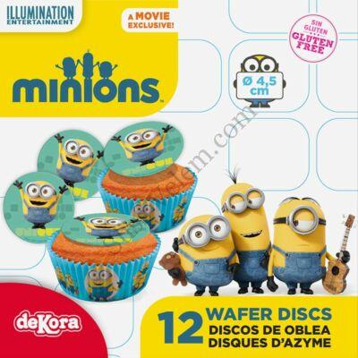 Minionos ostyatallér muffinra 12 db