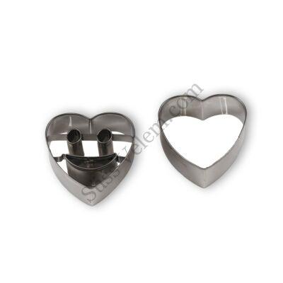 Mosolygós szív kiszúró készlet (Smiley)