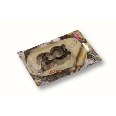Mosómedve alakú fém sütikiszúró készlet 3 részes