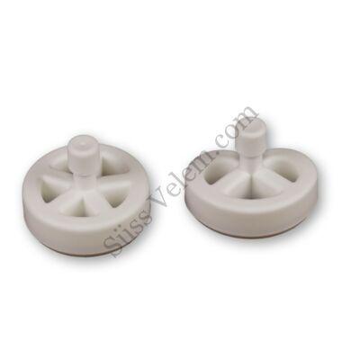 Műanyag kerék és perec szaggató forma