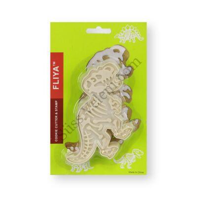 Műanyag T-rex dinó kiszúró forma
