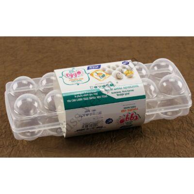 12 db-os műanyag tojástartó doboz