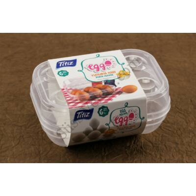 6 db-os műanyag tojástartó doboz