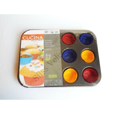 12 adagos muffinsütő 60 db színes muffin paírral