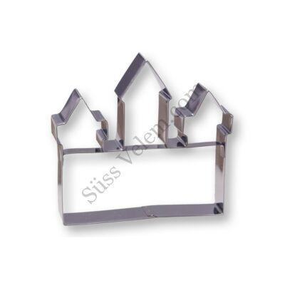 Nagy méretű fém Kitchen Craft várkastély alakú sütikiszúró