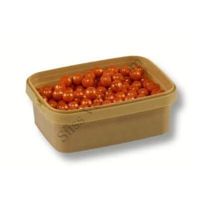 Nagyszemű narancssárga csokival töltött cukorgyöngy