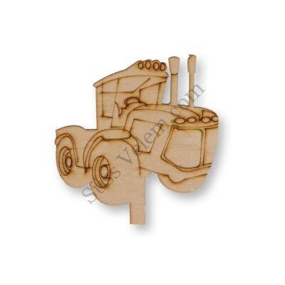 Natúr fa traktor sziluett tortadísz