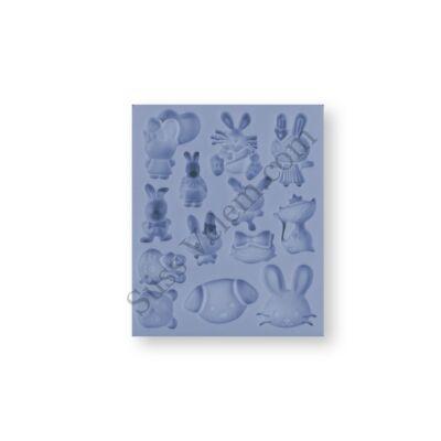 Nyuszik és apró állatok szilikon fondant formázó