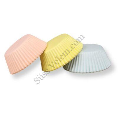 Pasztell színű muffin papír 75 db