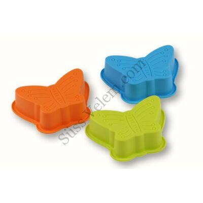 Pillangó alakú szilikon mini sütőforma 3 db