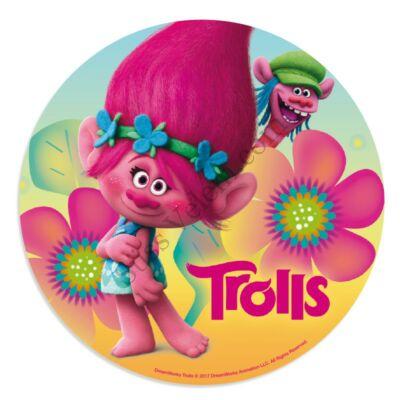Pipacs virágokkal Trollok tortaostya