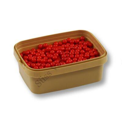 Piros 7 mm-es cukorgyöngy