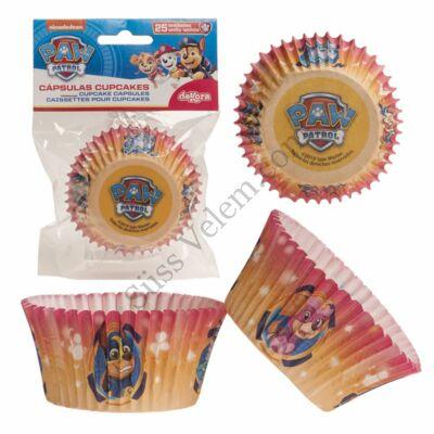 Piros , sárga Mancs Őrjárat muffin papír 25 db