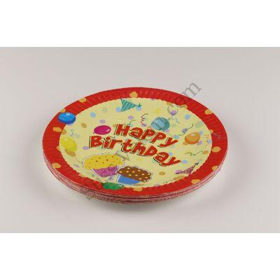 Piros, sárga szülinapi party tányér kisméret?