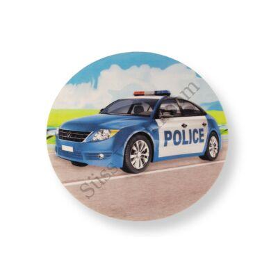 Rendőrautó POLICE felirattal tortaostya