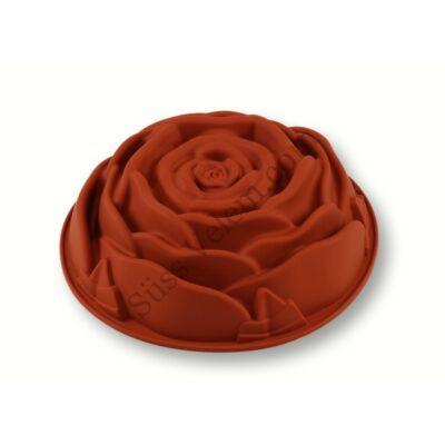 Rózsa alakú szilikon tortaforma