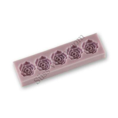 Rózsafejek szilikon fondant bordűr formázó