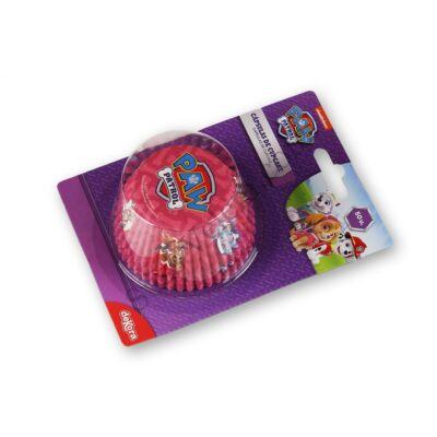 Rózsaszín Mancs Őrjárat muffin papír 50 db