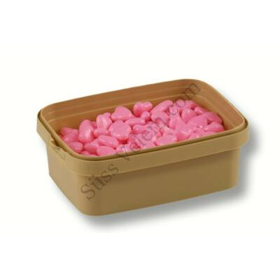 Rózsaszín szív alakú cukorgyöngy 20 dkg