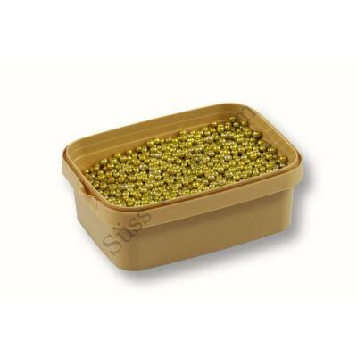 Sárgás arany cukorgyöngy 4 mm 20 dkg