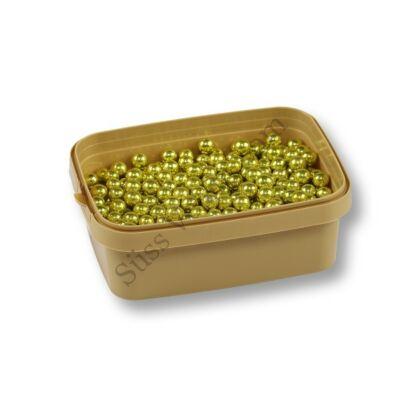 Sárgás arany cukorgyöngy 8 mm 20 dkg