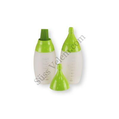 Séf palack készlet (ecset, díszítő flakon)