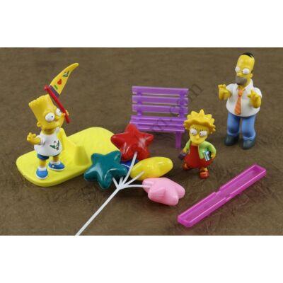 Simpson család tortadísz