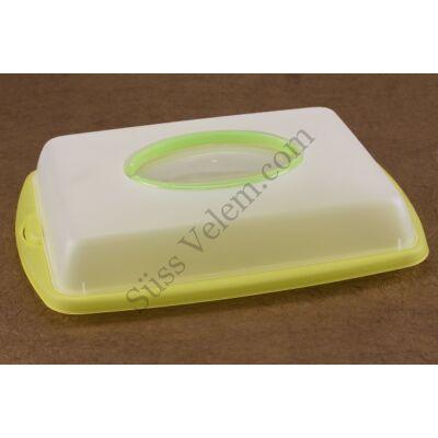 Sütemény tároló és hordozó doboz szögletes