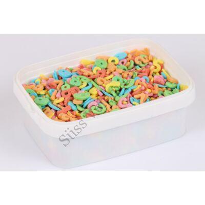 Szám cukorkonfetti tortadekor