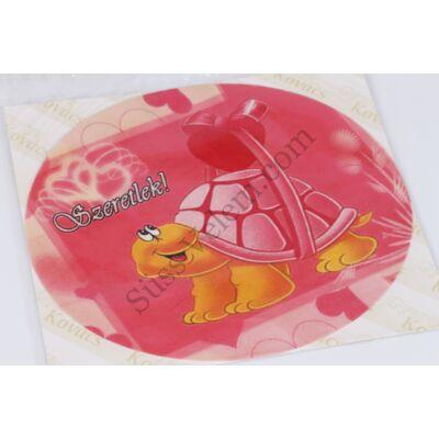 Szerelmes teknős tortaostya