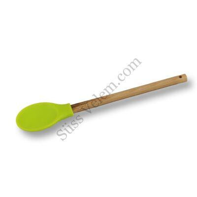 Szilikon fejű főzőkanál bambusz nyéllel