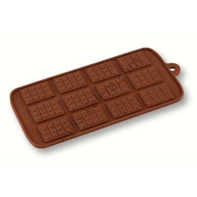 Szilikon mini táblás csoki forma