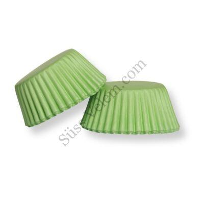 Zöld minimuffin papír 100 db-os