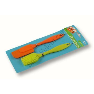 Szines szilikon ecset és spatula