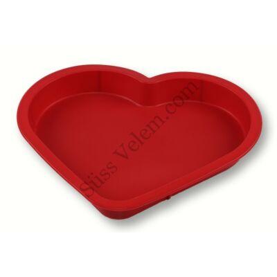 Szív alakú szilikon tortaforma