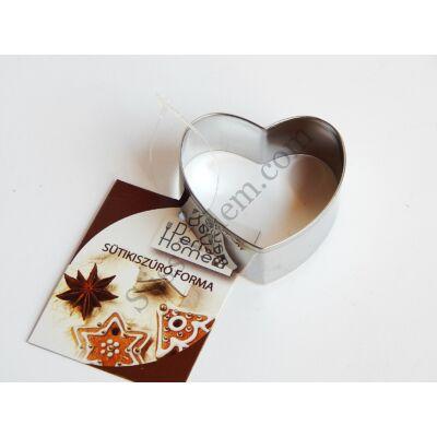 Fém szív alakú kiszúró forma