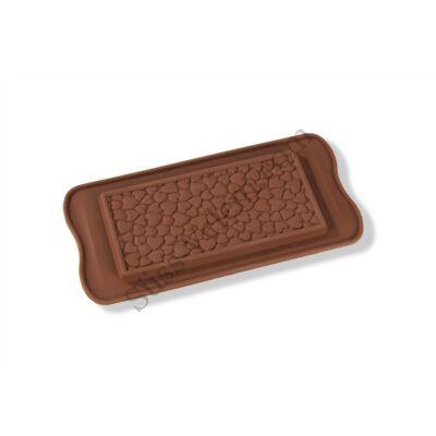 Szív mintás szilikon tábla csoki forma