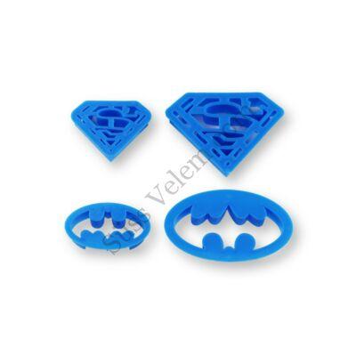 Szuperhősök (Superman és Batman) fondant és sütemény kiszúró készlet