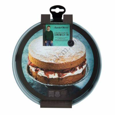 Tapadásmentes 20 cm-es 4 cm magas kivehető aljú Jamie Oliver tortaforma