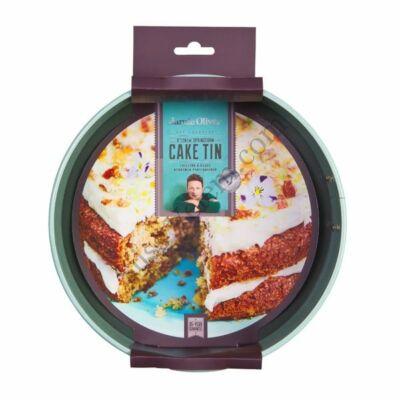 Tapadásmentes 20 cm-es, 8 cm magas kapcsos Jamie Oliver tortaforma