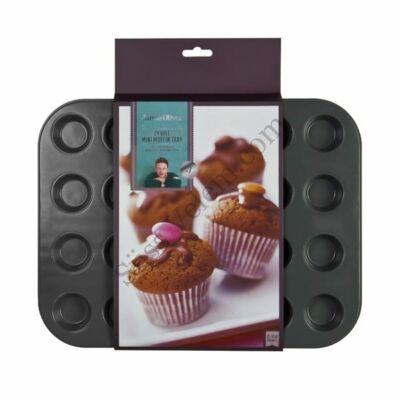 Tapadásmentes 24 db-os Jamie Oliver minimuffin sütőforma